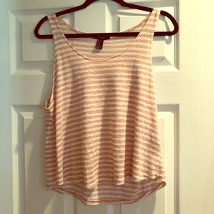 Pink/white stripe tank